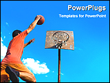PowerPoint Template - image of basketball player and a basket