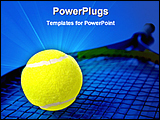 PowerPoint Template - illustrated image of a tennis racket and a ball