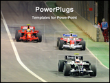PowerPoint Template - a car racing show in a ground