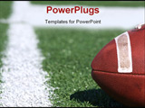 PowerPoint Template - American collegiate football on a sports field