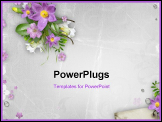 PowerPoint Template - Spring Flowers On Textured Background