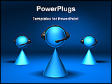 PowerPoint Template - 3d models of telecaller