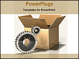 PowerPoint Template - service tools with packing box