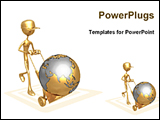 PowerPoint Template - image showing world wide service provide