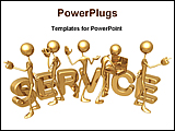 PowerPoint Template - service men are providing different services