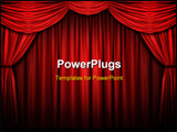 PowerPoint Template - Red stage curtain with arch entrance with selective lights and shadows