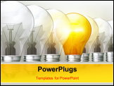 PowerPoint Template - Light bulbs bitmap copy