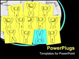 PowerPoint Template - One person stands out from the group in this episode of Sticky Note Theatre.