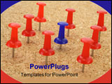 PowerPoint Template - pushpin standing out from the crowd of other pushpins