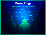PowerPoint Template - 3D render of one leader stand out from the crowd