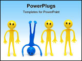 PowerPoint Template - Stand out from the crowd concept with smilies