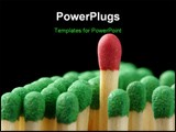 PowerPoint Template - Single red matchstick among green ones out of the crowd concept isolated over Black