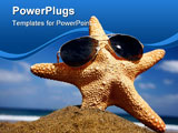 PowerPoint Template - Starfish on a sunny beach with sunglasses