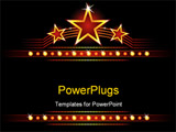 PowerPoint Template - Big stars over place for your text