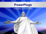 PowerPoint Template - Statue of Jesus Christ with hands outstretched