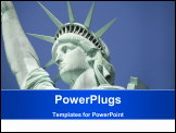 PowerPoint Template - Close-up of the Statue of Liberty New York City USA.