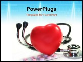 PowerPoint Template - a Stethoscope with heart on white background
