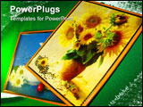 PowerPoint Template - still-life cup flowers sunflower pot merry picture kitchen