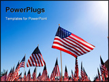 PowerPoint Template - n Amercan Flag display for celebration of a National holiday like Fourth of July Memorial Day Veter