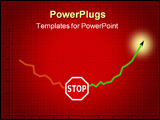 PowerPoint Template - illustration that express stop downtrend and start to grow