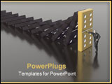 PowerPoint Template - domino and man (see more in my portfolio)