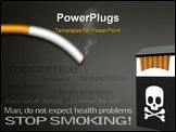PowerPoint Template - Stop smoking campaign posters with a list of diseases caused by smoking