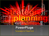 PowerPoint Template - Software package box Word cloud concept illustration of strategic planning
