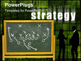 PowerPoint Template - Strategy on a Green Abstract Tech Background