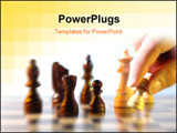 PowerPoint Template - close up move hand in playing chess