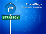 PowerPoint Template - Vector illustration of a sign pointing strategy way