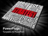 PowerPoint Template - Group of Strategy related words. Part of a series of business concepts.