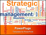 PowerPoint Template - Word cloud tags concept illustration of strategic management