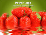 PowerPoint Template - many strawberry