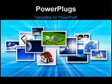 PowerPoint Template - Streams of images symbolizing the new technology and media environment