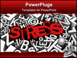PowerPoint Template - Stress concept with red letters over busy background