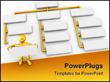 PowerPoint Template - Abstract structure. 3d Very beautiful three-dimensional illustration on white background