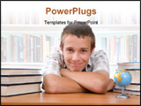 PowerPoint Template - photo of casual happy teenager over white background