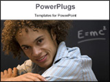 PowerPoint Template - nice guy smiling during a lecture
