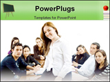 PowerPoint Template - gang of students sitting together with white backgroung