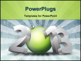 PowerPoint Template - New Year 2013 conceptual 3D rendered