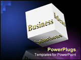 PowerPoint Template - risky business dice on a white background