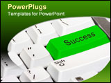 PowerPoint Template - Press the green key on the keyboard for success