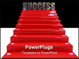 PowerPoint Template - concept of success difficult to reach the inviting but steep staircase represents