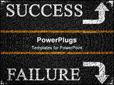 PowerPoint Template - Success or failure on an asphalt background