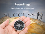 PowerPoint Template - headline success and Compass concept of choice
