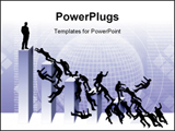PowerPoint Template - llustration, business people battle from the top, diagram, war, battle from the superior position i