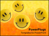 PowerPoint Template - succes abstract. A smiling symbol from the plastic
