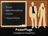 PowerPoint Template - The recipe for success written on a chalkboard