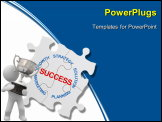 PowerPoint Template - Puzzle business concept marketing Strategy close up