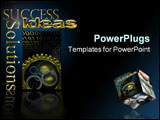 PowerPoint Template - Logo with gold Solutions Success and Ideas back lit